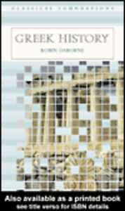Ebook in inglese Greek History Osborne, Robin