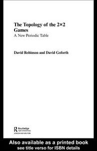 Ebook in inglese Topology of 2x2 Games Goforth, David , Robinson, David