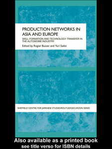 Ebook in inglese Production Networks in Asia and Europe