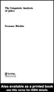 Ebook in inglese The Linguistic Analysis of Jokes Ritchie, Graeme