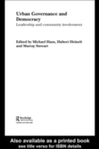 Ebook in inglese Urban Governance and Democracy