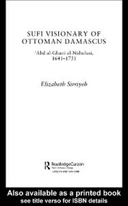 Ebook in inglese Sufi Visionary of Ottoman Damascus Sirriyeh, Elizabeth