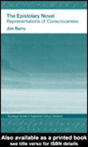 Ebook in inglese The Epistolary Novel Bray, Joe