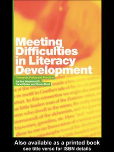 Ebook in inglese Meeting Difficulties in Literacy Development Reid, Gavin , Soler, Janet , Wearmouth, Janice