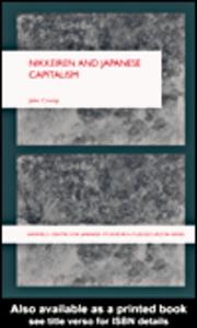 Ebook in inglese Nikkeiren and Japanese Capitalism Crump, John