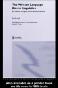 Ebook in inglese Written Language Bias in Linguistics Linell, Per