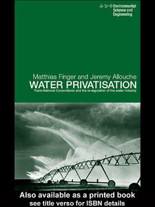 Ebook in inglese Water Privatisation Allouche, Jeremy , Finger, Matthias