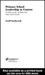 Foto Cover di Primary School Leadership in Context, Ebook inglese di Geoff Southworth, edito da