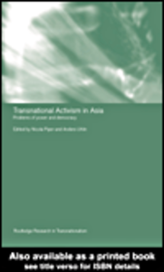 Ebook in inglese Transnational Activism in Asia