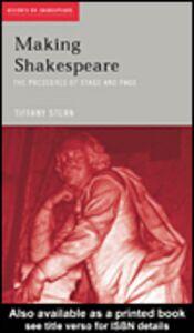 Foto Cover di Making Shakespeare, Ebook inglese di Tiffany Stern, edito da