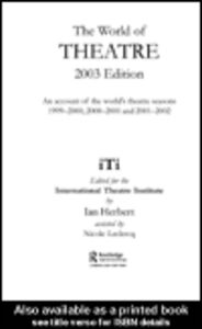 Ebook in inglese World of Theatre 2003 Edition