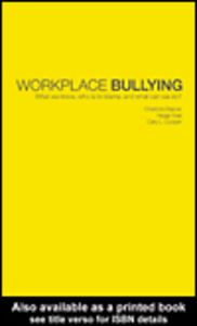 Ebook in inglese Workplace Bullying Cooper, Cary L. , Hoel, Helge , Rayner, Charlotte