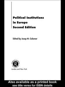 Ebook in inglese Political Institutions in Europe