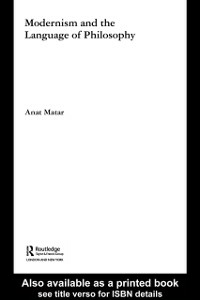Ebook in inglese Modernism and the Language of Philosophy Matar, Anat