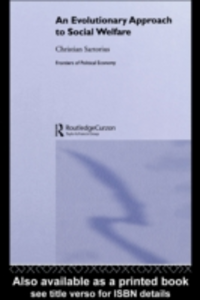 Ebook in inglese Evolutionary Approach to Social Welfare Sartorius, Christian
