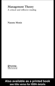 Ebook in inglese Management Theory Monin, Nanette