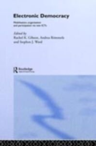 Ebook in inglese Electronic Democracy -, -
