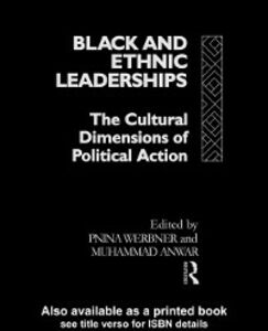 Ebook in inglese Black and Ethnic Leaderships Werbner, Pnina
