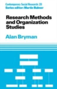 Ebook in inglese Research Methods and Organization Studies Bryman, Alan