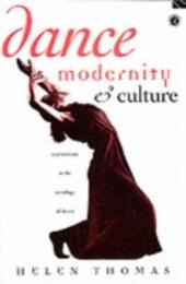 Dance, Modernity and Culture