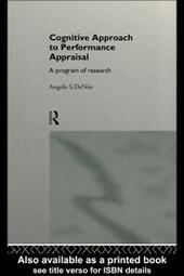 Cognitive Approach to Performance Appraisal