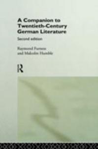 Ebook in inglese Companion to Twentieth-Century German Literature -, -
