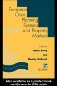 Ebook in inglese European Cities, Planning Systems and Property Markets -, -