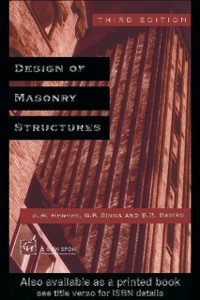 Ebook in inglese Design of Masonry Structures -, -