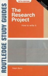 Foto Cover di Research Project, Ebook inglese di Ralph Berry, edito da Taylor and Francis