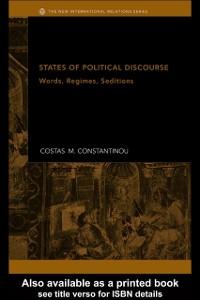 Ebook in inglese States of Political Discourse Constantinou, Costas M.