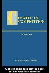 Foto Cover di Climates of Global Competition, Ebook inglese di Maria Bengtsson, edito da Taylor and Francis