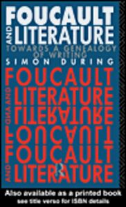 Ebook in inglese Foucault and Literature During, Simon