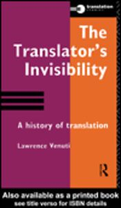 Ebook in inglese The Translator's Invisibility Venuti, Lawrence