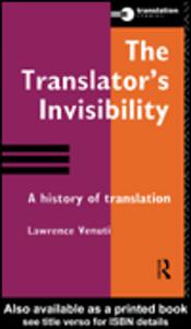 Ebook in inglese The Translator's Invisibility Venuti, Lawrence