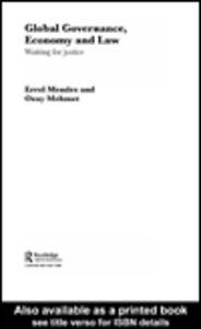Foto Cover di Global Governance, Economy and Law, Ebook inglese di Ozay Mehmet,Errol P. Mendes, edito da
