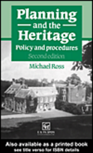 Ebook in inglese Planning and the Heritage Ross, Michael