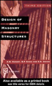 Ebook in inglese Design of Masonry Structures
