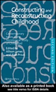 Ebook in inglese Constructing and Reconstructing Childhood