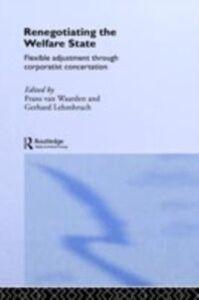 Foto Cover di Renegotiating the Welfare State, Ebook inglese di  edito da Taylor and Francis