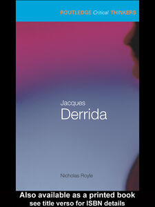 Ebook in inglese Jacques Derrida Royle, Nicholas