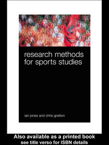 Foto Cover di Research Methods for Sports Studies, Ebook inglese di Chris Gratton,Ian Jones, edito da