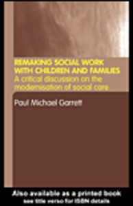 Ebook in inglese Remaking Social Work with Children and Families Garrett, Paul Michael