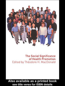 Ebook in inglese The Social Significance of Health Promotion