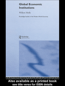 Ebook in inglese Global Economic Institutions Molle, Willem