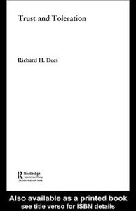 Ebook in inglese Trust and Toleration Dees, Richard H.