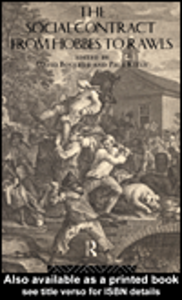 Ebook in inglese The Social Contract from Hobbes to Rawls Boucher, David , Kelly, Paul