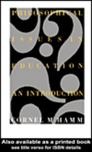 Ebook in inglese Philosophical Issues In Education