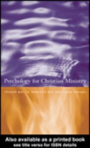 Ebook in inglese Psychology for Christian Ministry Nye, Rebecca , Savage, Sara , Watts, Fraser