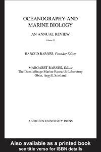 Foto Cover di Oceanography and Marine Biology, An Annual Review, Volume 22, Ebook inglese di  edito da Taylor and Francis
