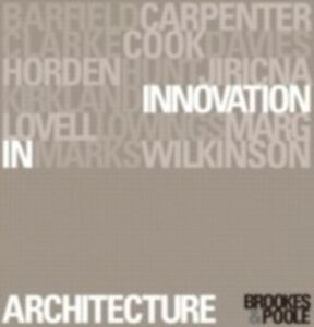 Ebook in inglese Innovation in Architecture -, -